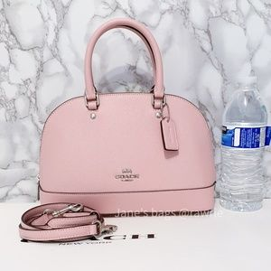 New Coach Mini Sierra Satchel Carnation Pink